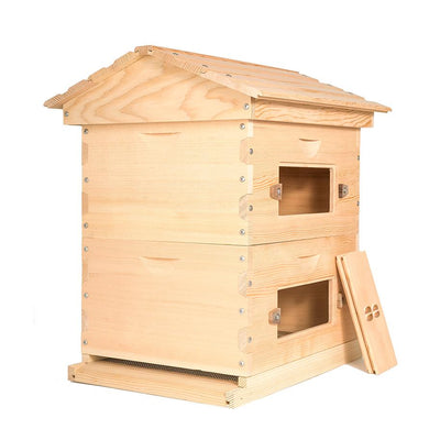 Deep sugar pine hive with windows