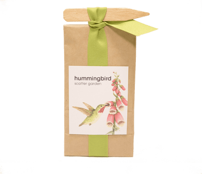 image of hummingbird scatter garden