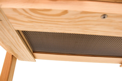 top bar hive screened bottom board