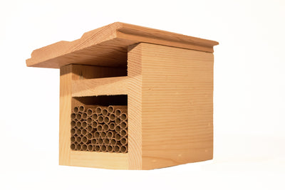 slanted roof mason bee house