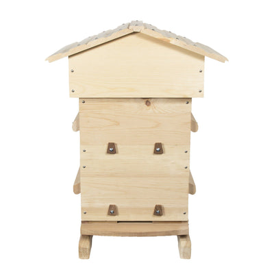 warre hive with windows made from sugar pine