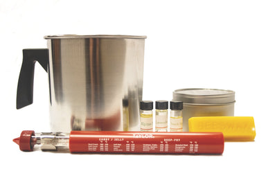 contents of deluxe candle making kit