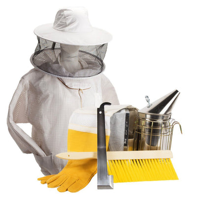 Beekeeping starter kit with ventilated jacket