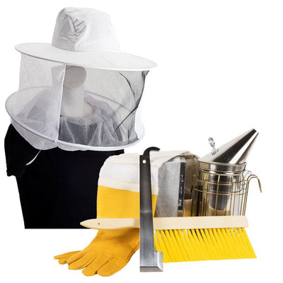 Beekeeping starter kit with hat and veil