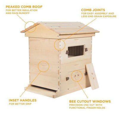 Deep sugar pine hive with notes