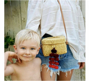 Straw Basket Beach Handbag - Surf Gypsy