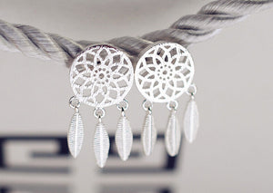 Dream Catcher Earrings 925 Sterling Silver - Surf Gypsy