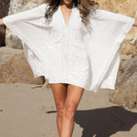 Cotton V-neck Cover Up - Surf Gypsy