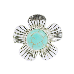 Exaggeration Flowers Furquoise Adjustable  Rings - Surf Gypsy