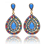 Teardrop Beaded Bohemian Style Earrings - Surf Gypsy