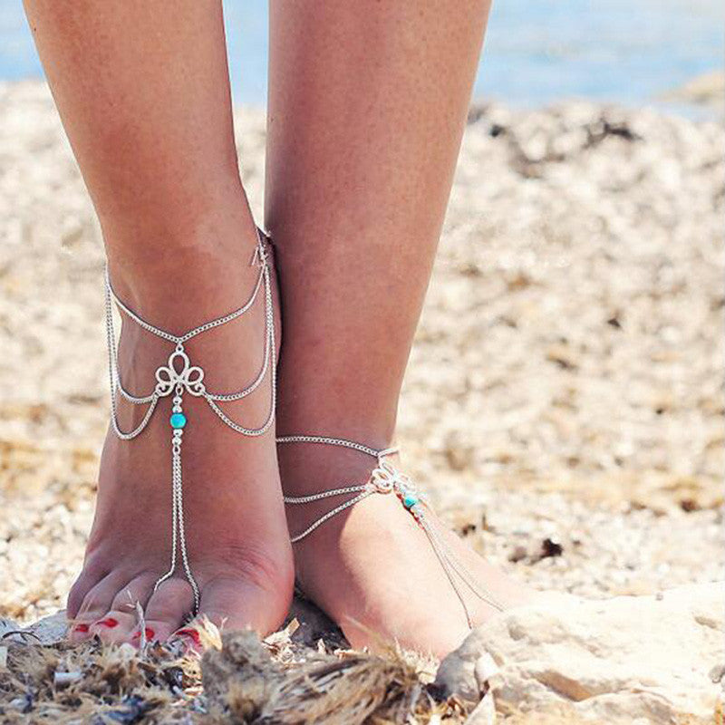 Imperial Crown Shape Barefoot Sandal Jewelry - Surf Gypsy