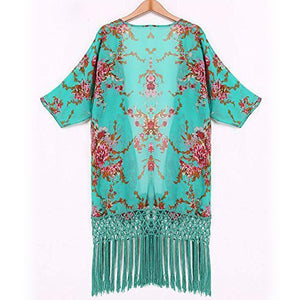Summer Floral Chiffon Beach Cover Up - Surf Gypsy