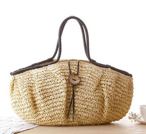Large Straw Travel Beach Bag - Surf Gypsy