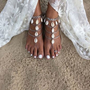 Bohemian Long Shell Anklet - Surf Gypsy
