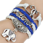 Multiple Strand Leather Bracelet with Charms - Surf Gypsy