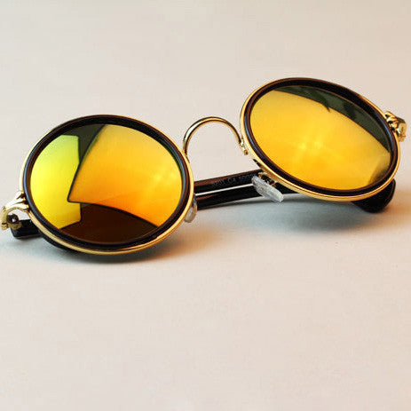 Round Sunglasses with Mirror Lens - Surf Gypsy