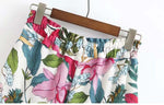Tropical Pineapple Print High Waist Shorts - Surf Gypsy