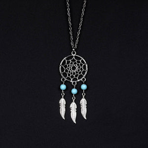 Vintage Style Dream Catcher Necklace - Surf Gypsy