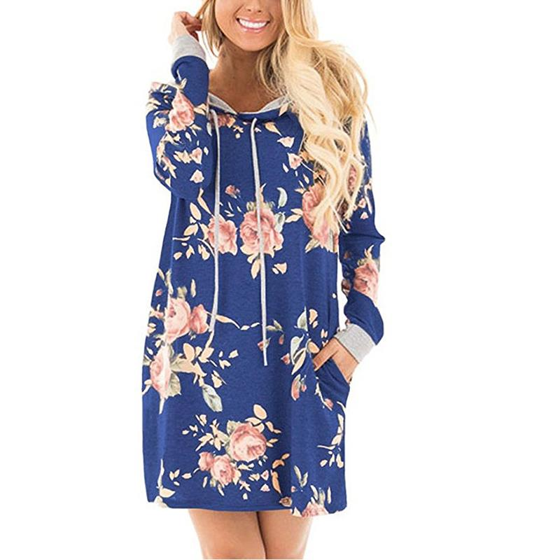 Floral Print Long Sleeve Mini Dress With Pocket - Surf Gypsy