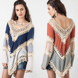 Crochet Long Sleeve Beach Bikini Cover Up - Surf Gypsy