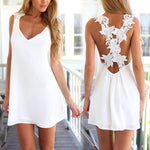 V Neck with Embroidered Back Detail Dress - Surf Gypsy