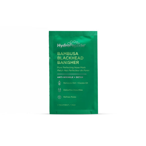 HYDROPEPTIDE Bambusa Blackhead Banisher Pore Perfecting Nose Mask 8 sachets