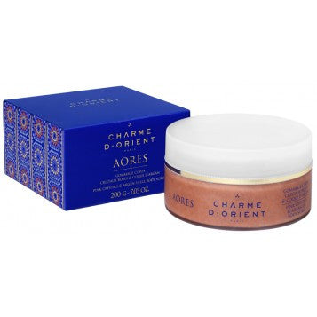 CHARME D'ORIENT Pink Crystals and Argan Shell Scrub 200g
