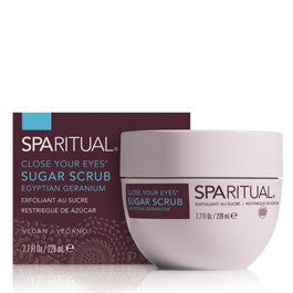 SPARITUAL Close Your Eyes Sugar Scrub - Geranium 7.7oz