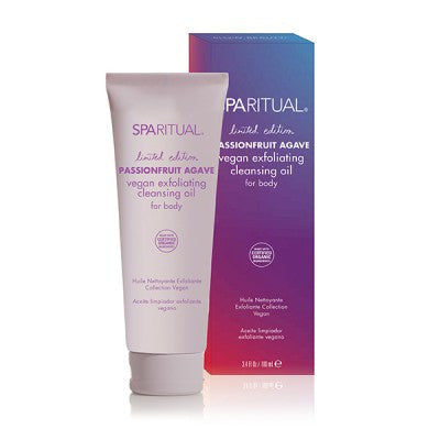 SPARITUAL Passionfruit Agave Vegan Exfoliating Cleansing Oil for Body 3.4oz
