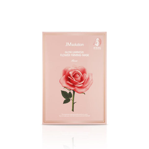 JM SOLUTION Glow Luminous Flower Firming Mask Rose 30ml x 10pcs