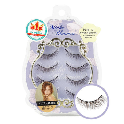MICHE BLOOMIN' False Eyelashes NO.12 Sweet Brown