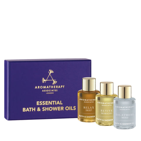 AROMATHERAPY ASSOCIATES Essential Bath & Shower Oils 3x7.5ml