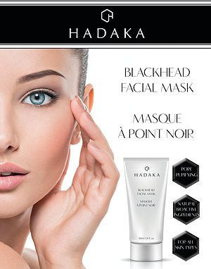 HADAKA Blackhead Facial Mask 8ml sachet / 50ml tube