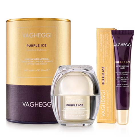 VAGHEGGI PURPLE ICE DUO (LIMITED EDITION) Lifting Face Cream + Lip Plumping Mask