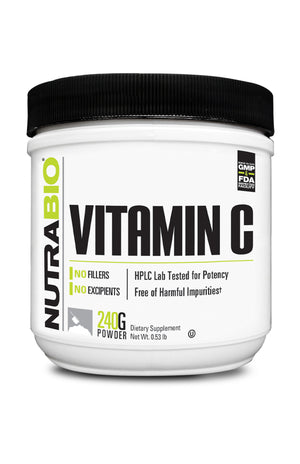 NutraBio: Vitamin C Powder (240 grams)