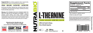 NutraBio: L-Theanine (200mg)