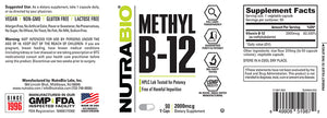 NutraBio: Methyl B-12 (2000mcg)