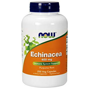 NOW: Echinacea 400mg. 250 Capsules