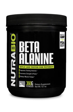 NutraBio: Beta Alanine Powder - 360 grams
