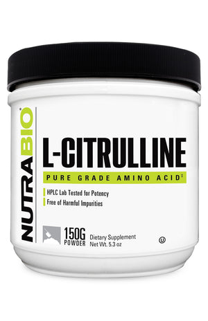 NutraBio: L-Citrulline Powder - 150 grams