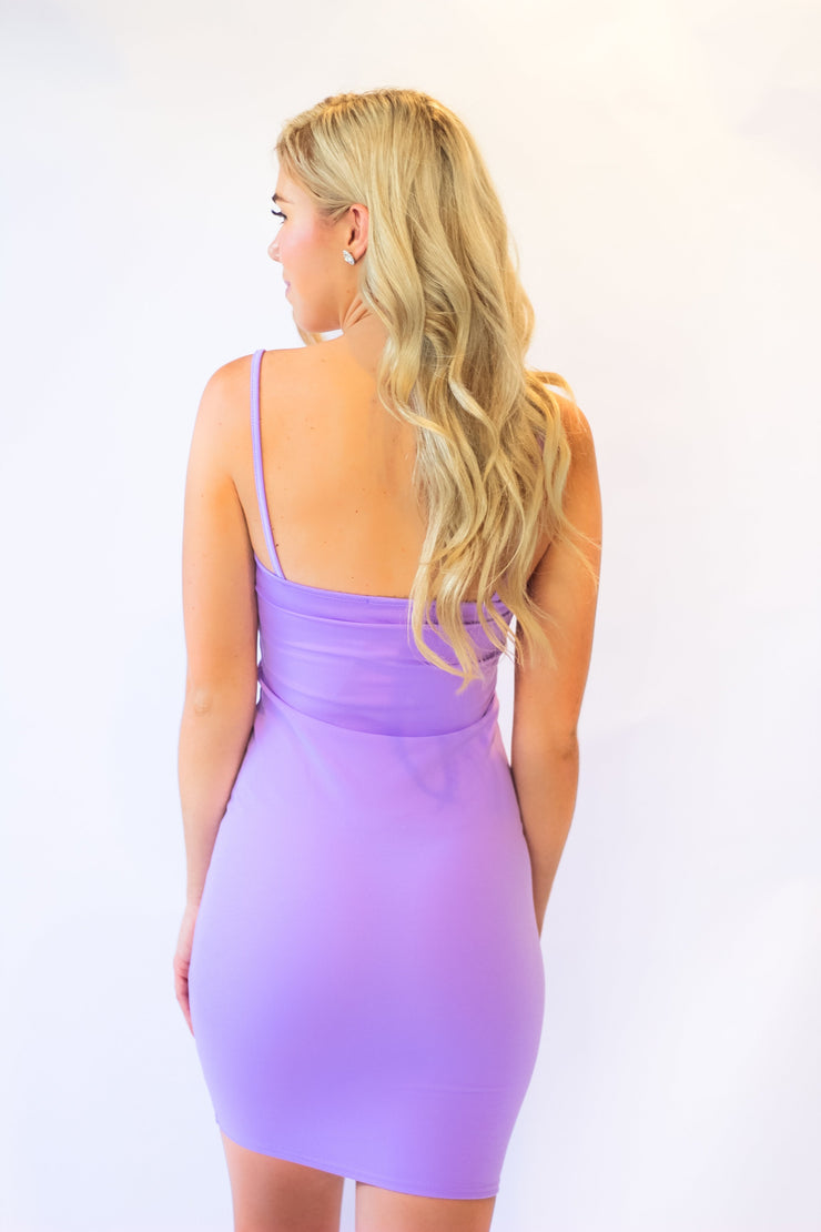 Talk That Talk Dress in Lilac