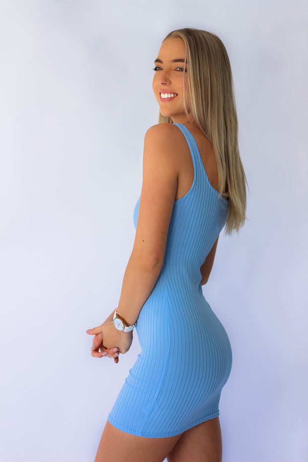 Bloodline Bodycon Mini Dress in Blue