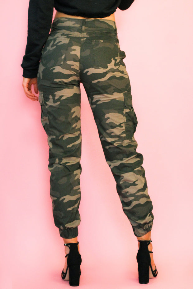 Only One Of Me Camouflag Cargo Trousers