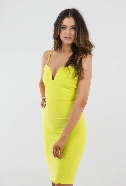 Stand Out Lime Dress - Coco Beam