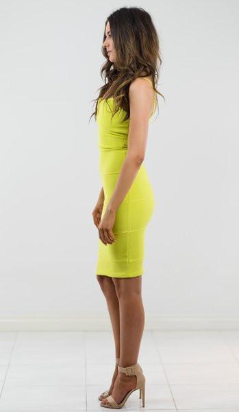 Stand Out Lime Dress