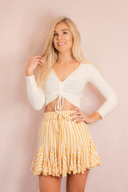 Bottom - Never Expire Ruffle Skirt In Yellow
