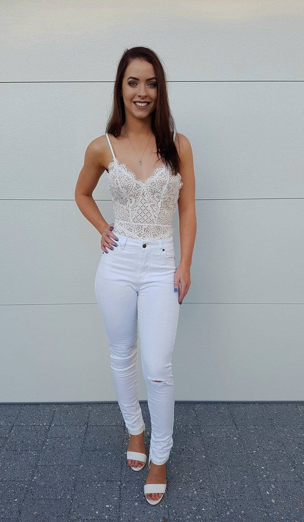 Bottom - Teenage Dream Jeans In White