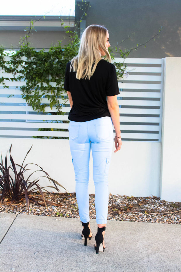 Bottoms - Talia Denim Jogger Pants