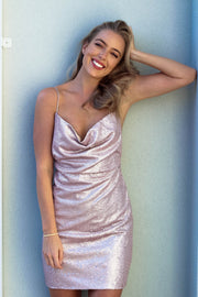 Dress - Bijou Sequin Dress In Pink