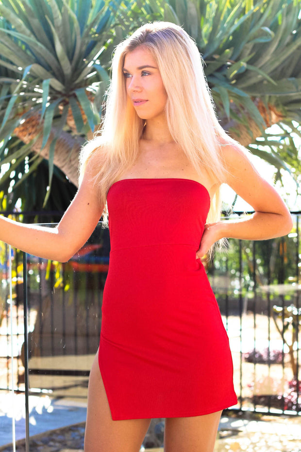 Dress - Dare To Dream Mini Dress In Red